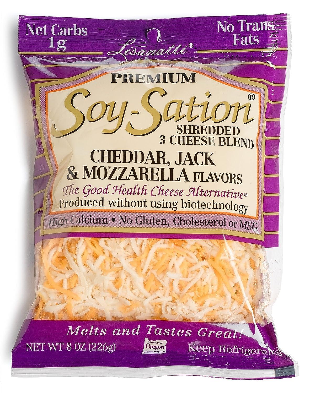 Lisanatti, Soy Sation Premium Shredded Cheese, 8 oz: Amazon