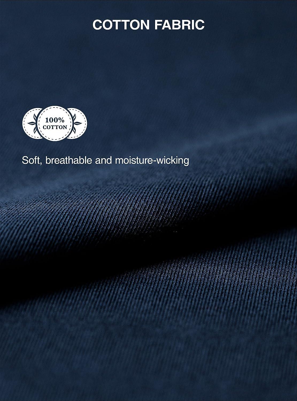 Genuwin Herren Schlafanzughose Lang Pyjamahose Kurz Hausanzughose mit Eingriff 100/% Baumwolle