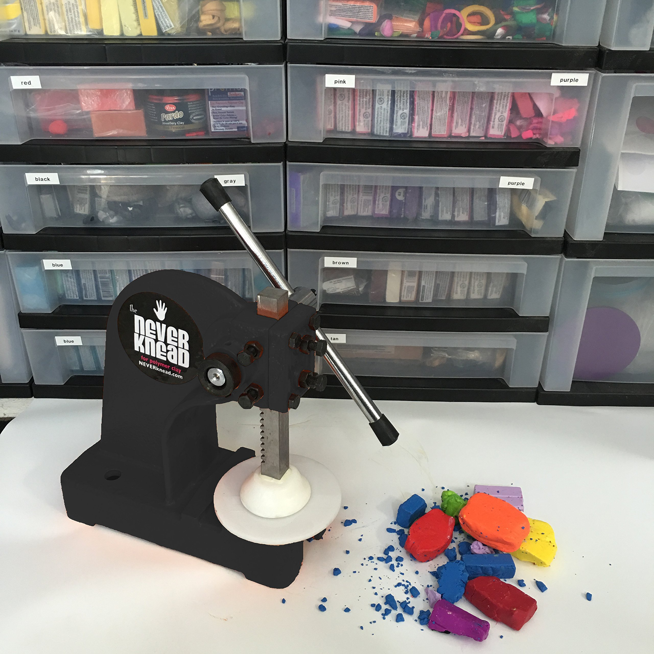 EASY Kneading of Polymer Clay - NEVERknead Tool is the Machine for ALL Polymer Clay Including Sculpey Fimo Cernit Pardo Art Clay & More by NEVERknead (Image #2)