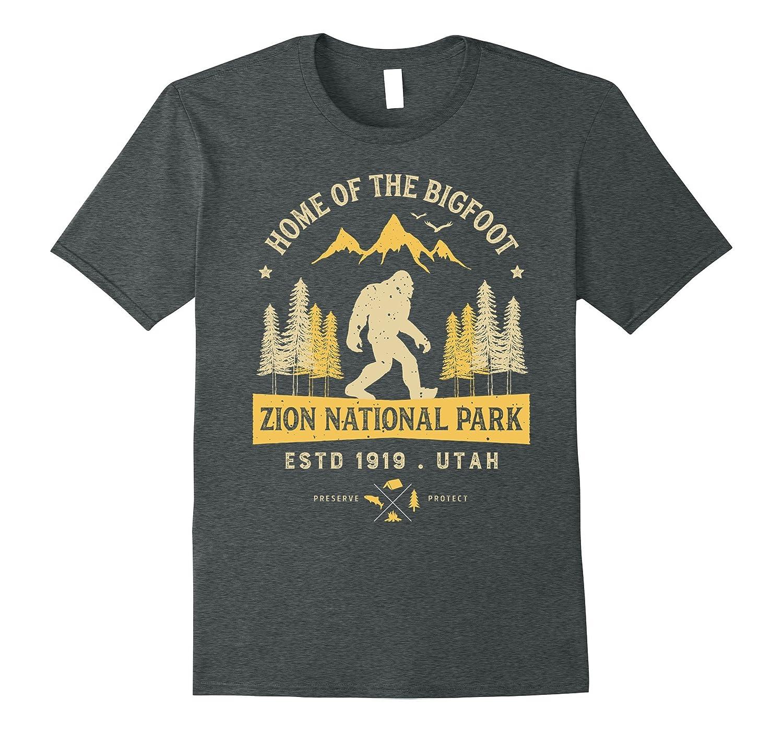 Zion National Park Vintage Bigfoot Utah T Shirt Men Women-RT