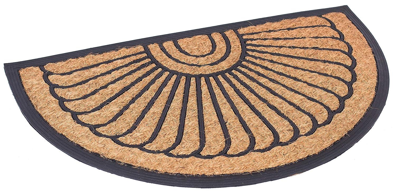 BirdRock Home 24 x 39 Half Round Natural Coir and Rubber Doormat (Large) | Natural Fibers | Outdoor Doormat | Keeps your Floors Clean | Decorative Design | Brush Coir 8664
