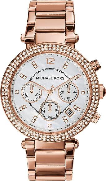 Michael Kors Reloj Cronógrafo para Mujer de Cuarzo con Correa en Acero Inoxidable MK5491: Amazon.es: Relojes