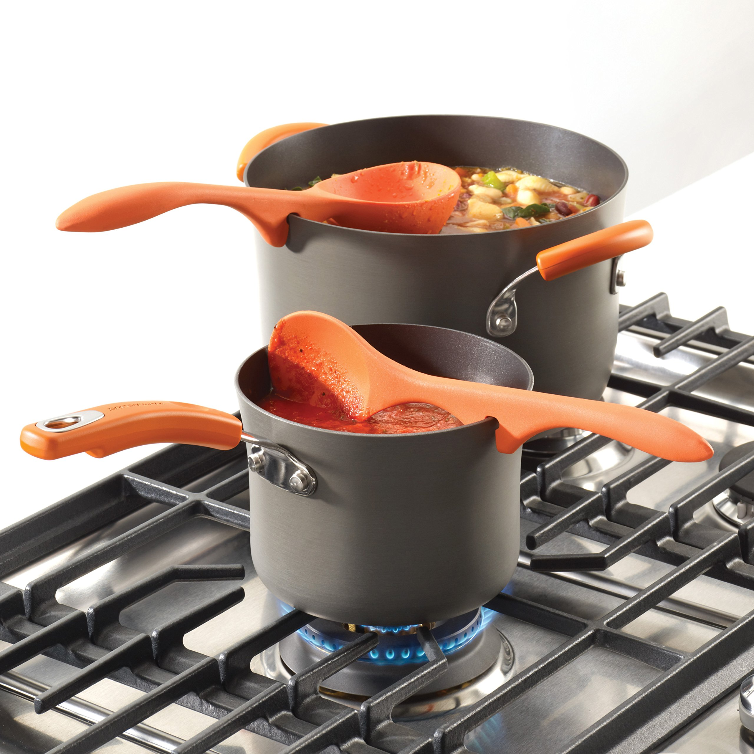 Rachael Ray Tools 2-Piece Lazy Spoon & Lazy Ladle Set, Orange by Rachael Ray (Image #3)