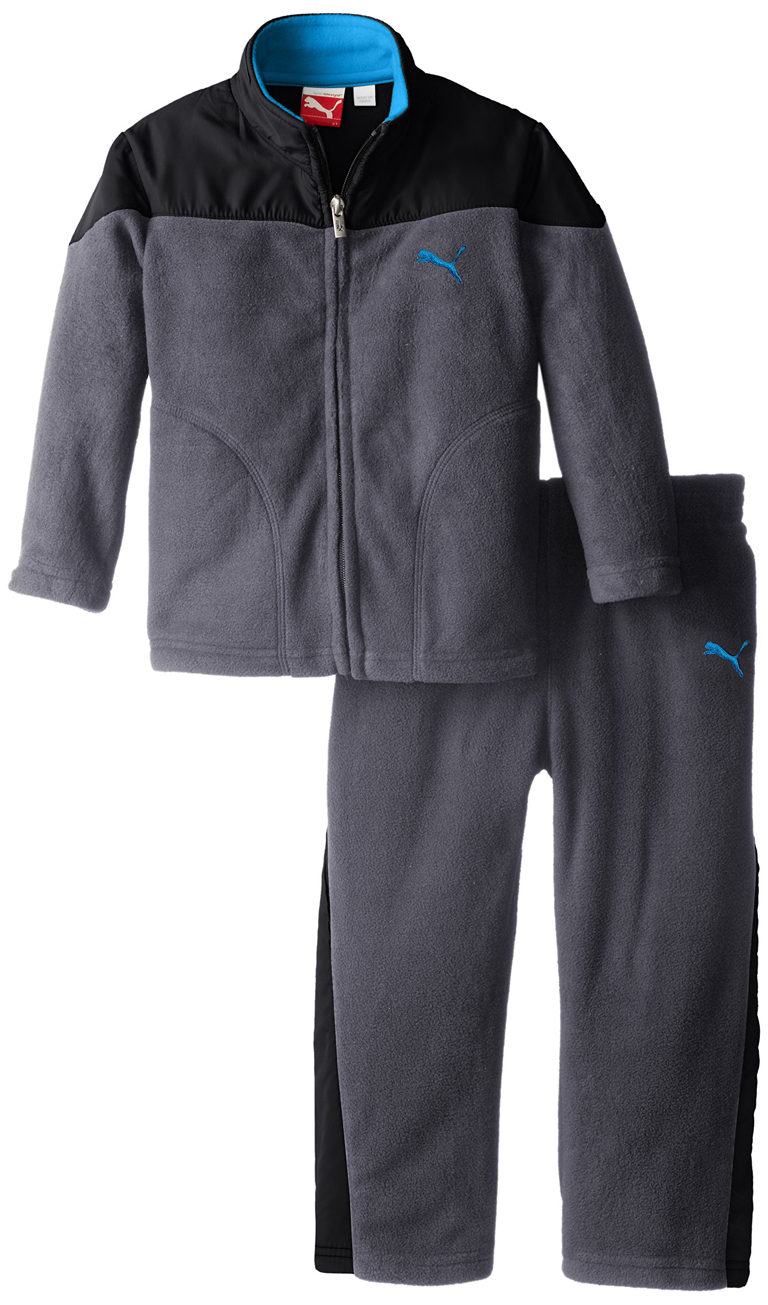 PUMA Little Boys' Curve Polar Fleece Set-Toddler, Quiet Shade, 4T by PUMA