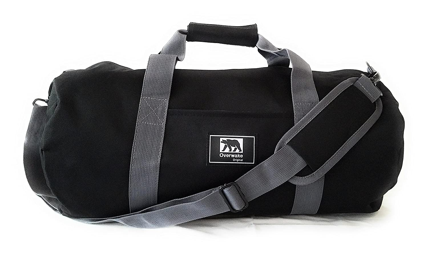 Small Gym Bag for Men and Women Sports Travel Duffle Overwake Original Black 19 inch Updated 2019 Model