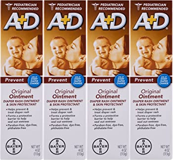 4-Pack A&D Original Diaper Ointment, 4 Ounce