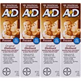 A+D Original Diaper Rash Ointment & Skin Protectant, Pediatrician Recommended, 4 Ounce (Pack of 4)