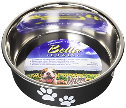 Bird Supplies Loving Pets Bella Bowl For Dogs Medium Murano Blue Fast Color