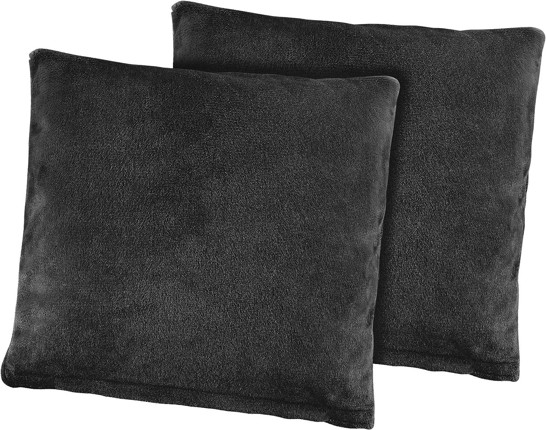 BaSaTex Nicky Teddy Corals Lot de 2 taies doreiller 40 x 40 cm 40 x 40 cm Bordeaux Microfibre
