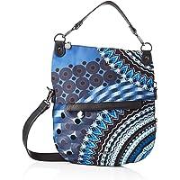 Desigual womens Bag Blue Friend Folded