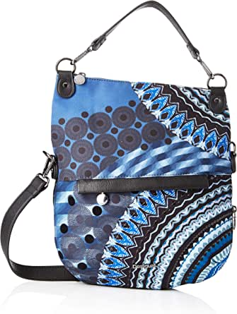 Desigual womens Bag Blue Friend Folded