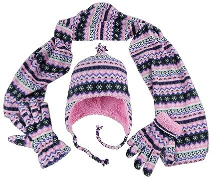 Amazon.com: N'Ice Caps Girls and Baby Fair Isle Print Fleece Hat ...