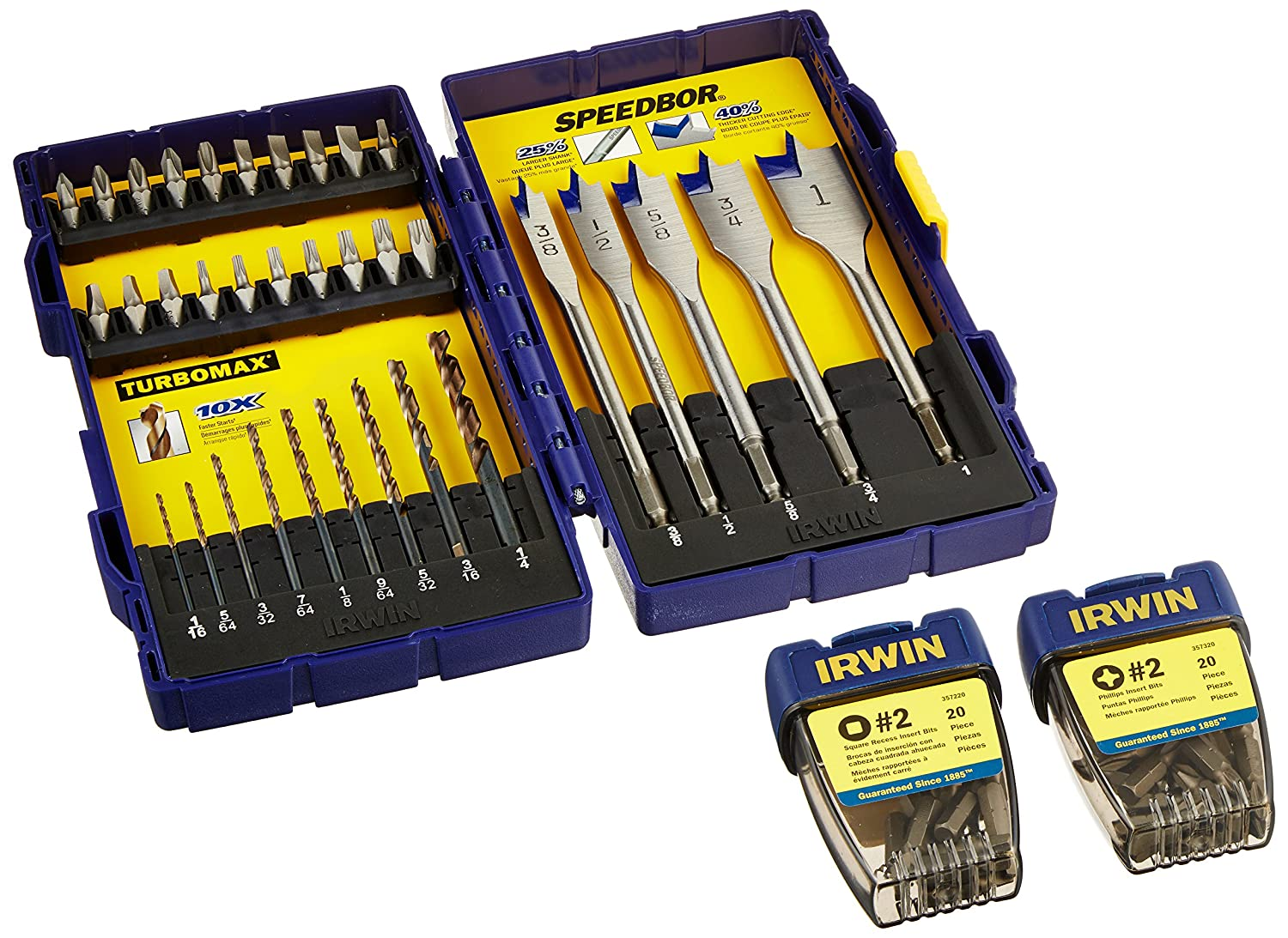 Irwin Tools 1836231 Drill and Drive Set 72-Pack