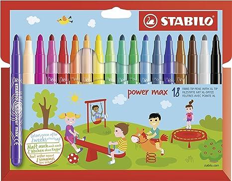 Feutre A Coloriage En Anglais.Feutre De Coloriage Stabilo Power Max Etui Carton 18 Feutres Pointe Large Coloris Assortis
