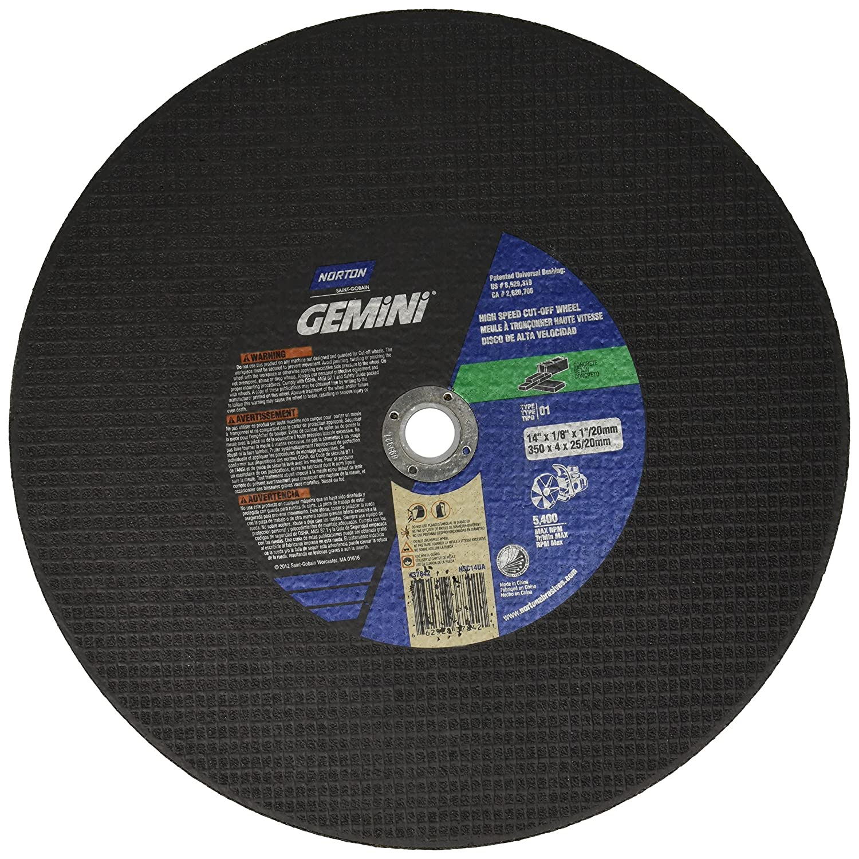 Gemin.i 14in.x.125in.x20mm Cutoff Wheel 66252837842 Norton