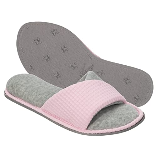 a050462082b6 Dearfoams Women s Quilted Terry Clog Mule Slipper – Padded Terrycloth  Slip-Ons with Skid-