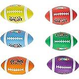 School Smart Gradeballs Rubber Footballs - Junior Size 6 - Set of 6 Colors