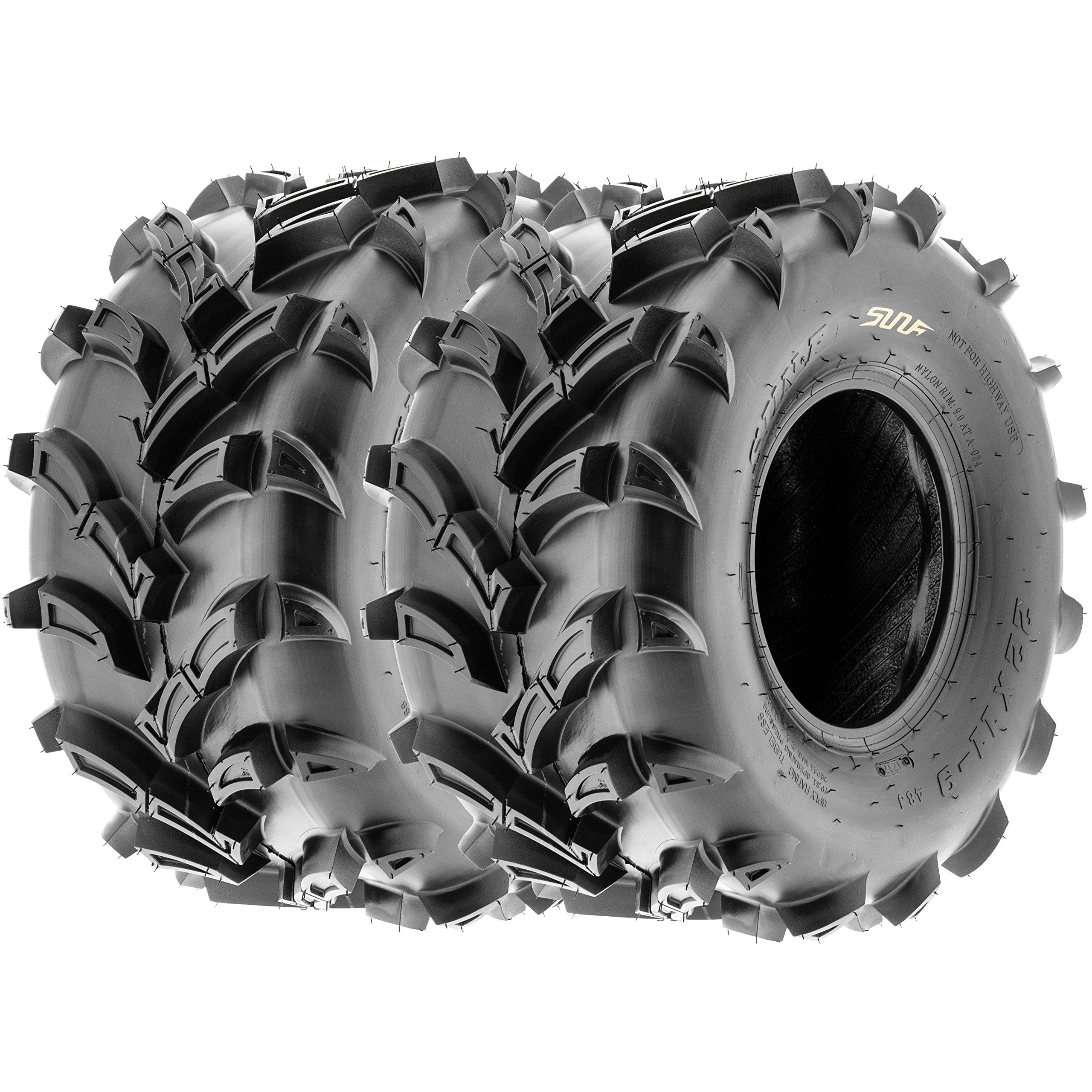 SunF ATV UTV Mud & All Terrain Tires 22x11-9 22x11x9 6 PR A024 (Set pair of 2)