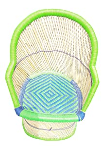 PatioStack Cane Eco Friendly Sitting Rattan & Wicker Chair for Garden / Terrace / Lawn and Balcony [ Single Chair, Size : 18*18*34 Inches ]