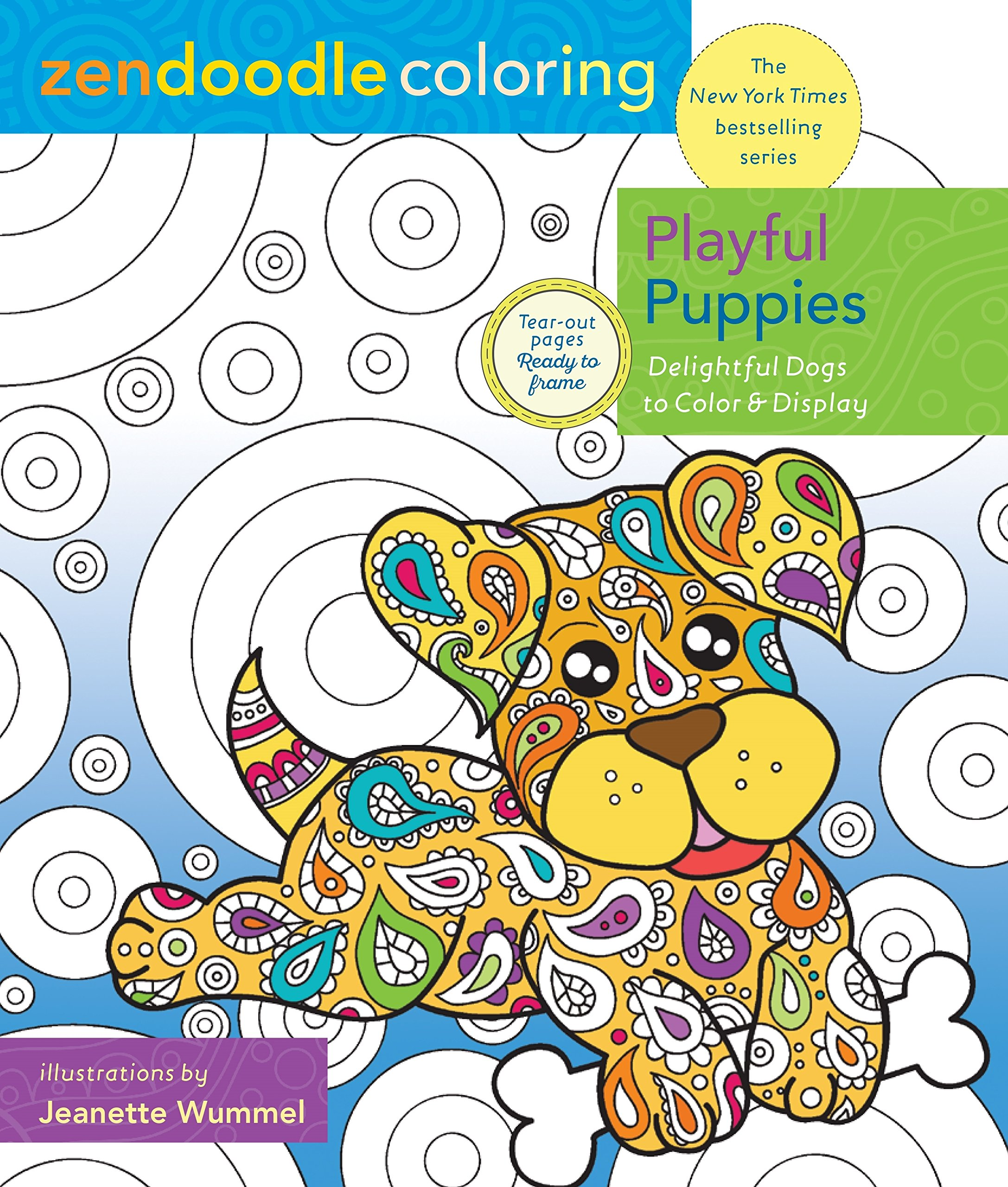 Amazon.com: Zendoodle Coloring: Playful Puppies: Delightful Dogs to ...