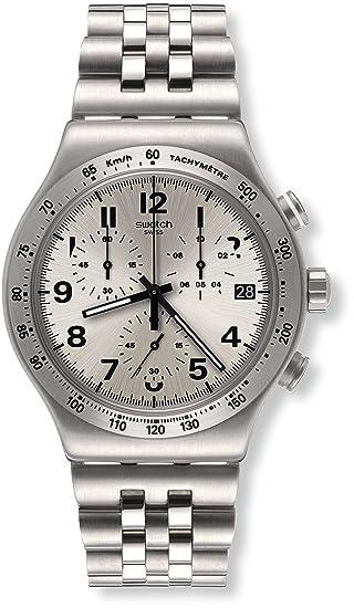 Swatch Reloj Digital para Hombre de Cuarzo con Correa en Acero Inoxidable YVS425G: Amazon.es: Relojes
