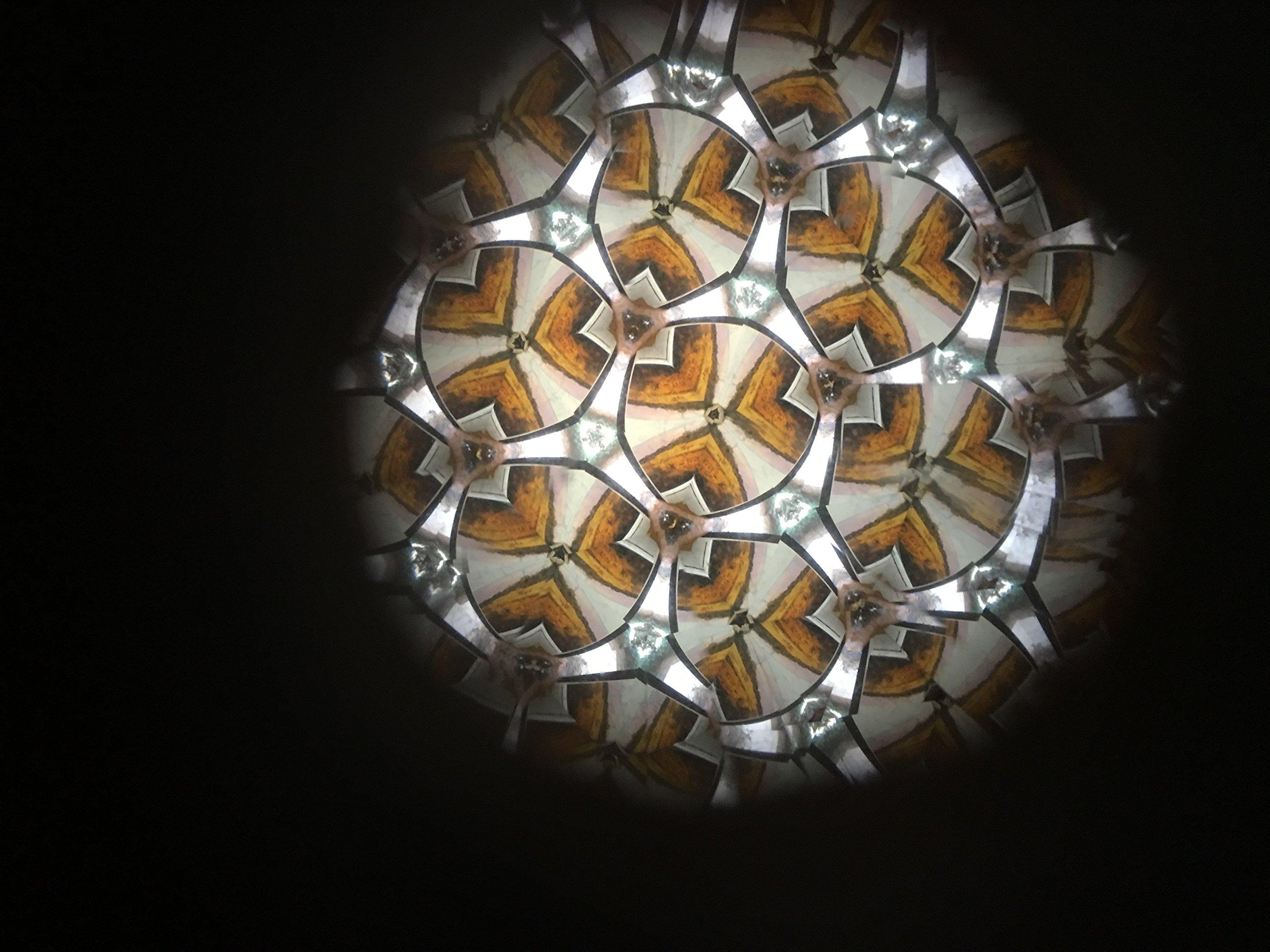 N & J Kaleidoscope Teleidoscope in Solid Padauk Wood, 5 1/2 Inch Barrel, Inlaid Padauk, Teak, Ebony and Jalneem by N & J (Image #6)