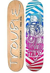 D18 TROUBLE SKATEBOARDS Tie Dye Skateboard Deck 8.0 8.1 8.25 8.50 North American Maple Professional Decks
