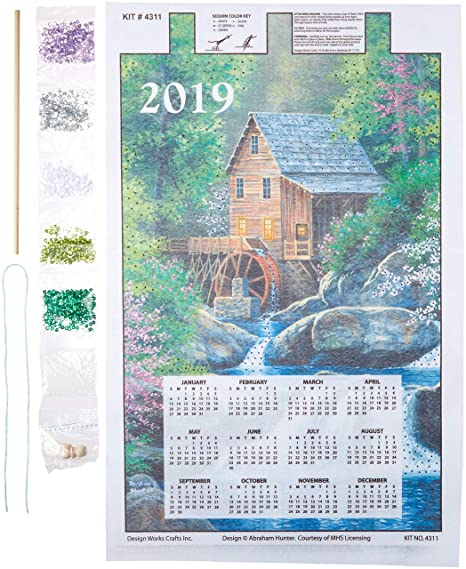 Calendario 2020 Maxim.Mary Maxim 4311 Design Works Sequin Calendar 2019 Watermill