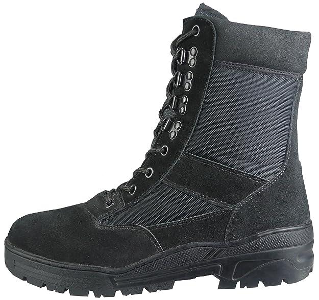 c3e84619b Savage Island Combat Boots Black Suede: Amazon.co.uk: Shoes & Bags