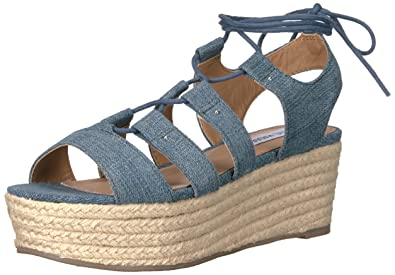 eaa108d541d8 Image Unavailable. Image not available for. Colour  Steve Madden Women s  Brayla Espadrille Wedge Sandal ...