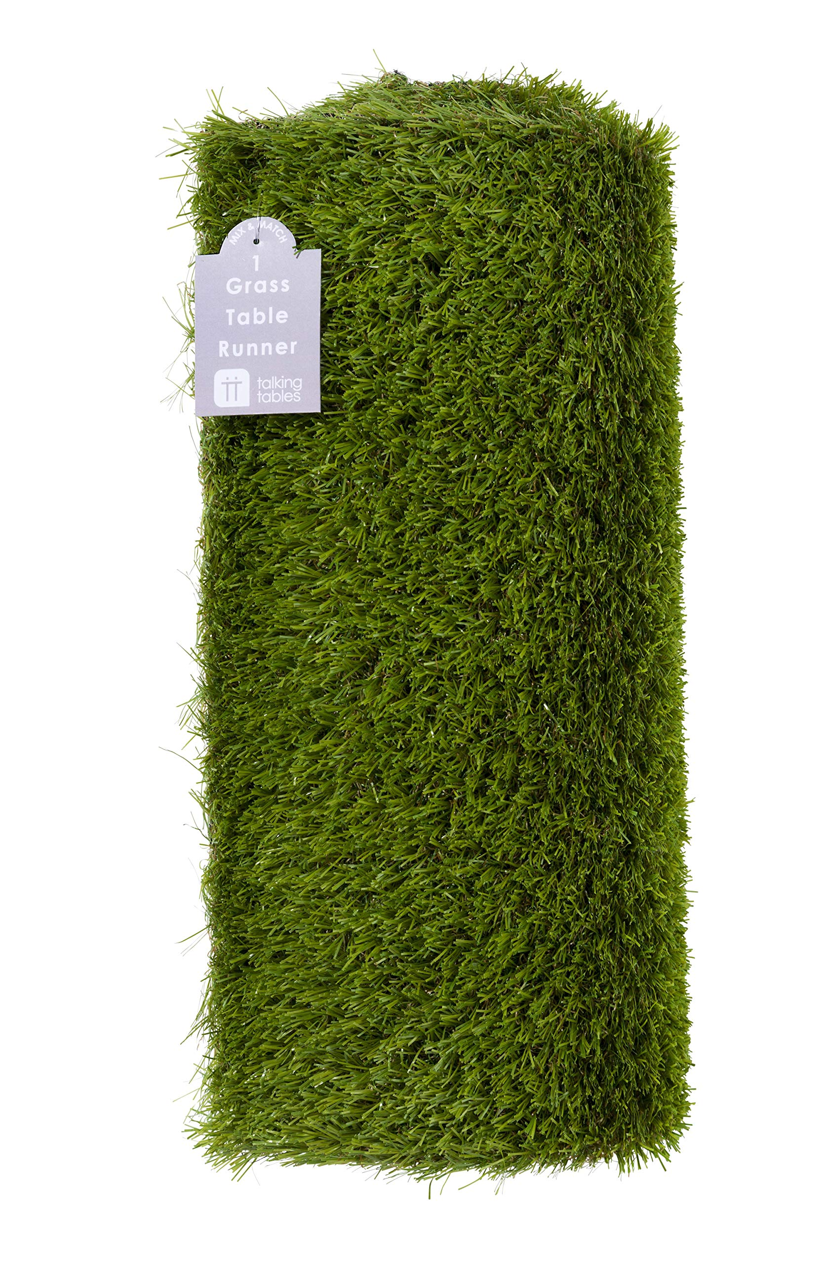 Talking Tables MIX-GRASSRUNNER Artificial Grass Runner Party Table Decoration, Length 1.5M, 5ft, Green by Talking Tables