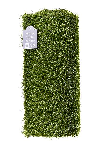 Talking Tables mantel artificial hierba verde, para La Pascua, cumpleaños, celebraciones del día del juego o una fiesta de verano