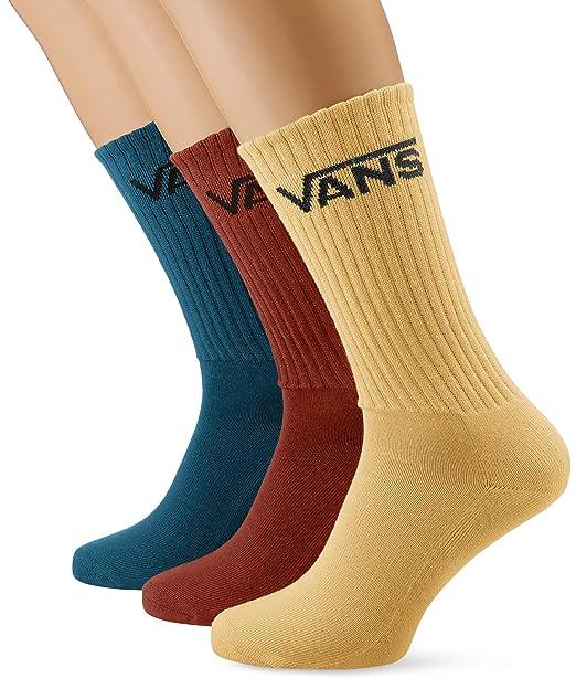 Vans_Apparel Classic Crew (9.5-13), Calcetines para Hombre, Multicolor (Corsair Ydw), Talla única(Pack de 3): Amazon.es: Ropa y accesorios