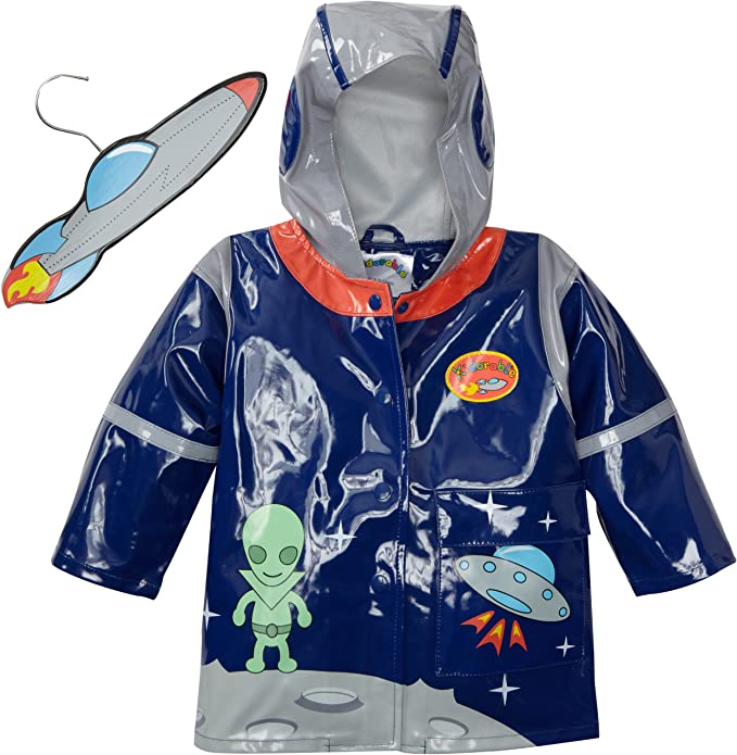 Astronaut Helmet Kidorable Blue Space Hero All-Weather Raincoat for Boys w//Fun Spaceship Pocket