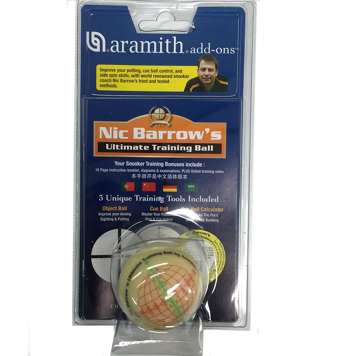 Aramith Nic Barrow's Ultimate Snooker Training Ball
