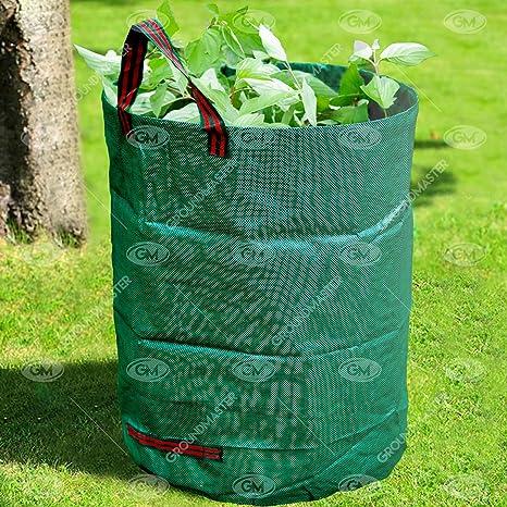 GroundMaster - Bolsas de basura redondas para jardín (100 L ...