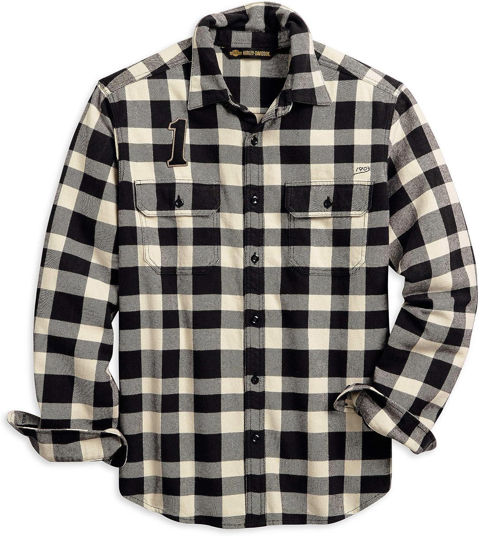HARLEY-DAVIDSON Buffalo Check Camisa con Botones para Hombre: Amazon.es: Ropa y accesorios