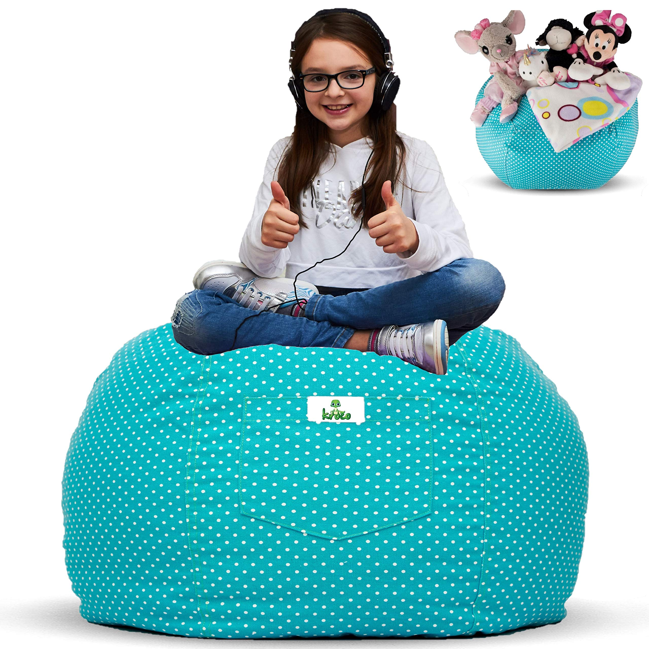 Cool Details About Kroco Extra Large Stuffed Animal Storage Bean Bag Chair Stuff N Sit Toy Squirreltailoven Fun Painted Chair Ideas Images Squirreltailovenorg