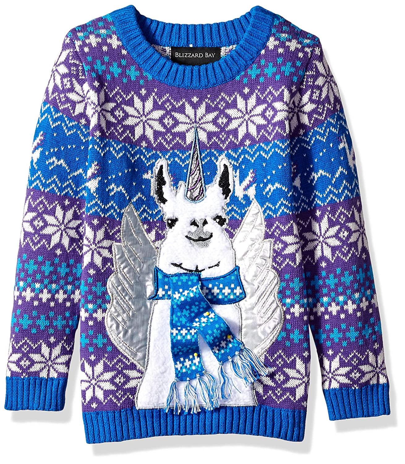 Blizzard Bay Mens Rainbow Pegasus Ugly Christmas Sweater Sweater
