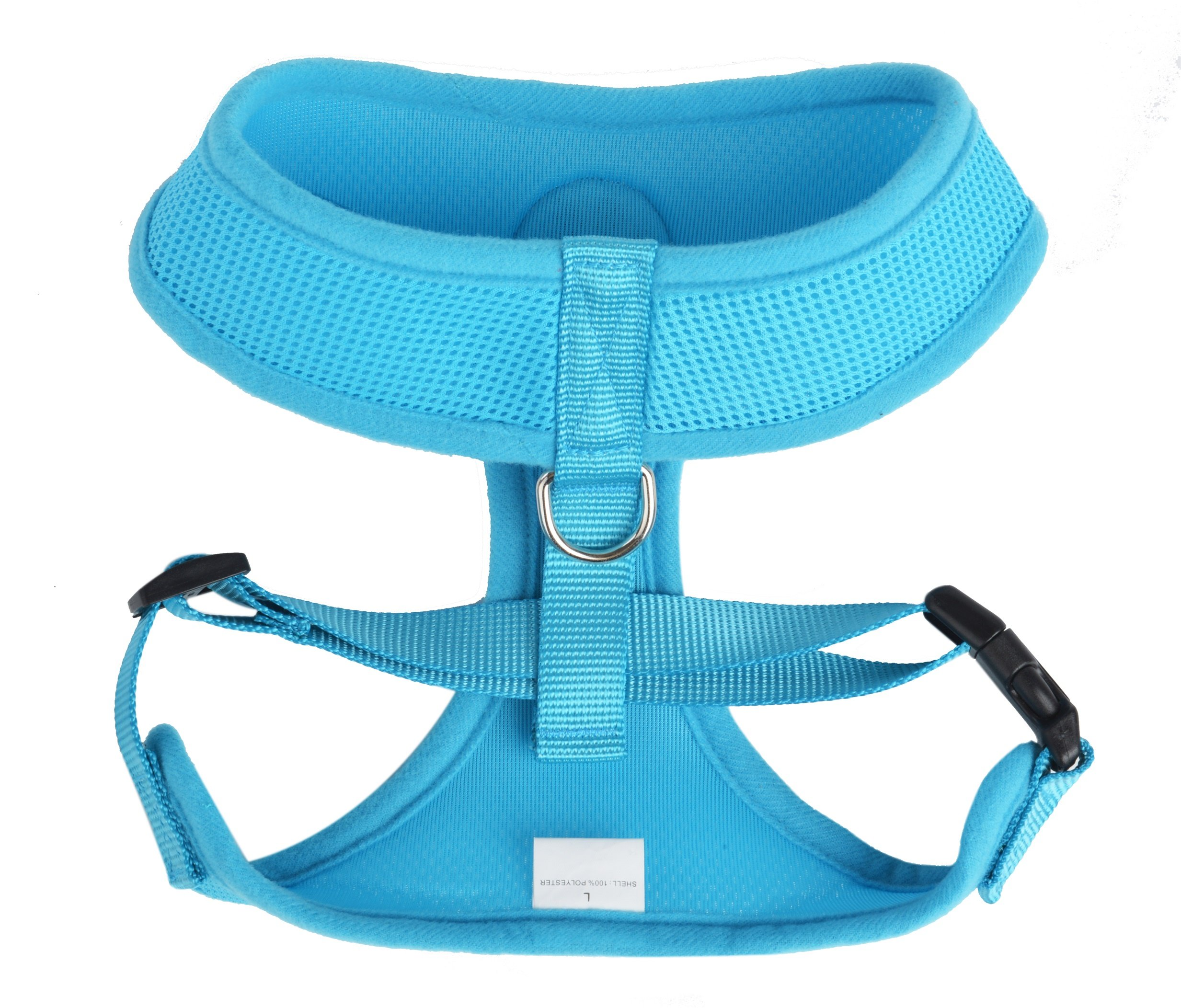 BINGPET BB5001 Soft Mesh Dog Harness Pet Walking Vest Puppy Padded Harnesses Adjustable, Blue Large by BINGPET (Image #2)