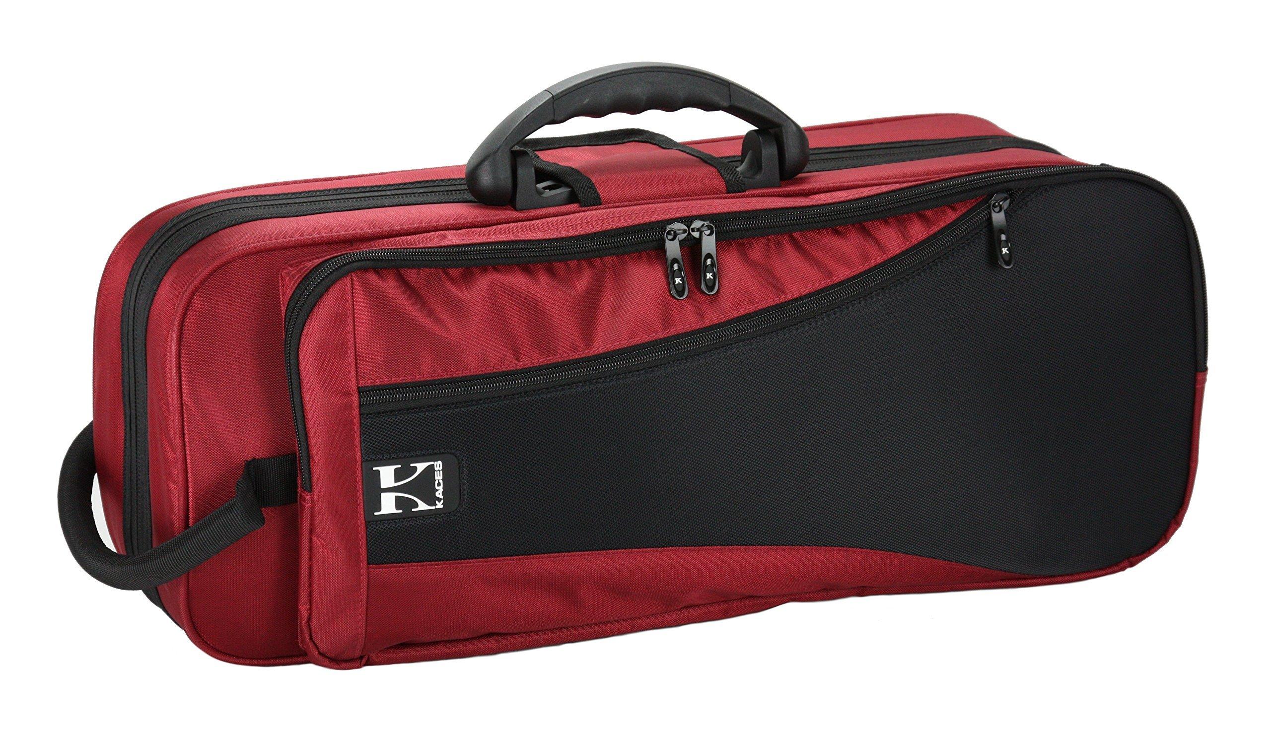 Kaces KBF-RTP4 Polyfoam Lightweight Trumpet Case, Red