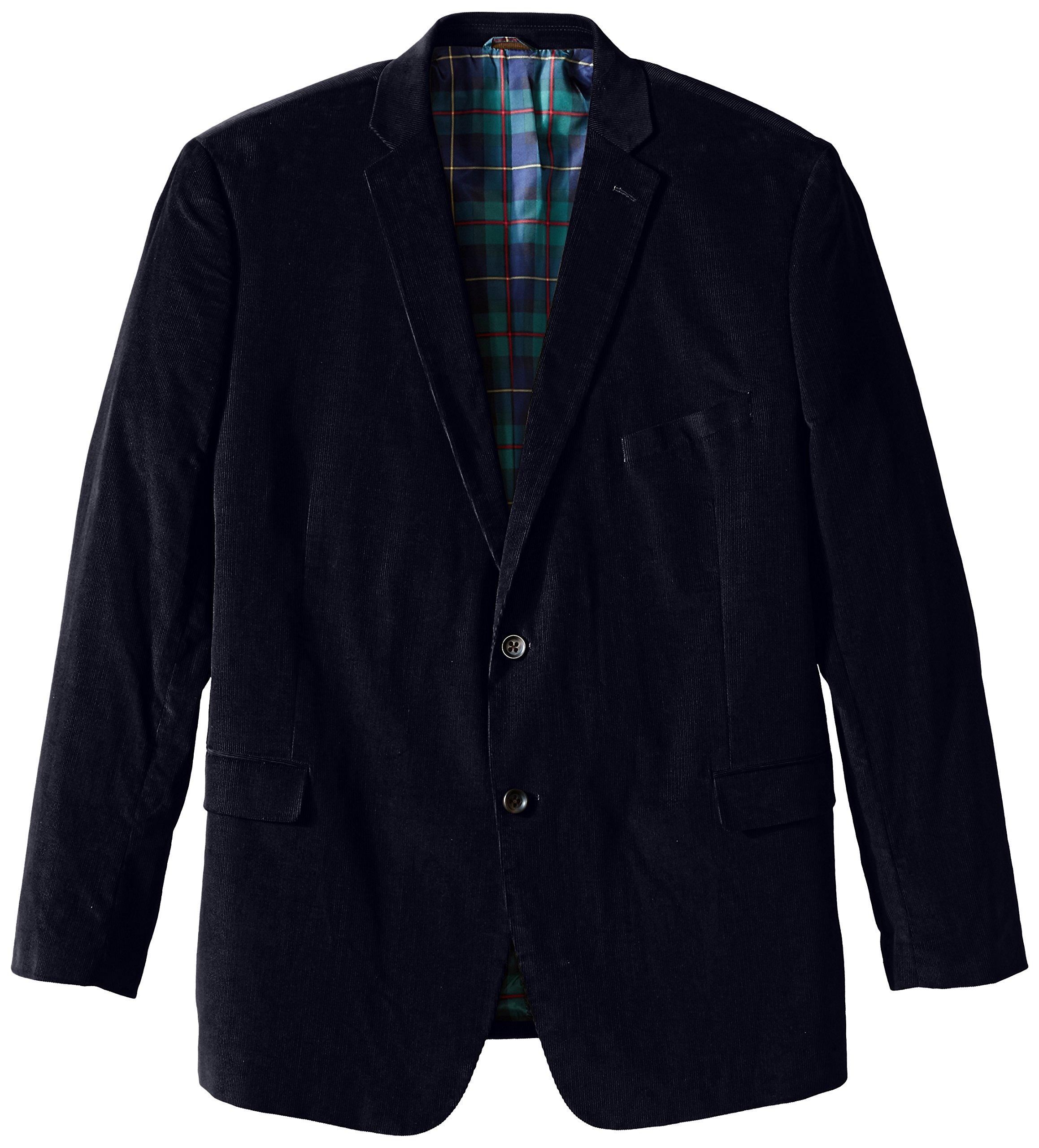 U.S. Polo Assn. Men's Big-Tall Cotton Corduroy Sport Coat, Navy, 52 Long