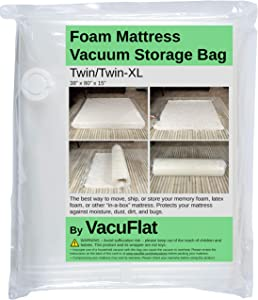 VacuFlat Foam Mattress Vacuum Storage Bag (Twin/Twin-XL)