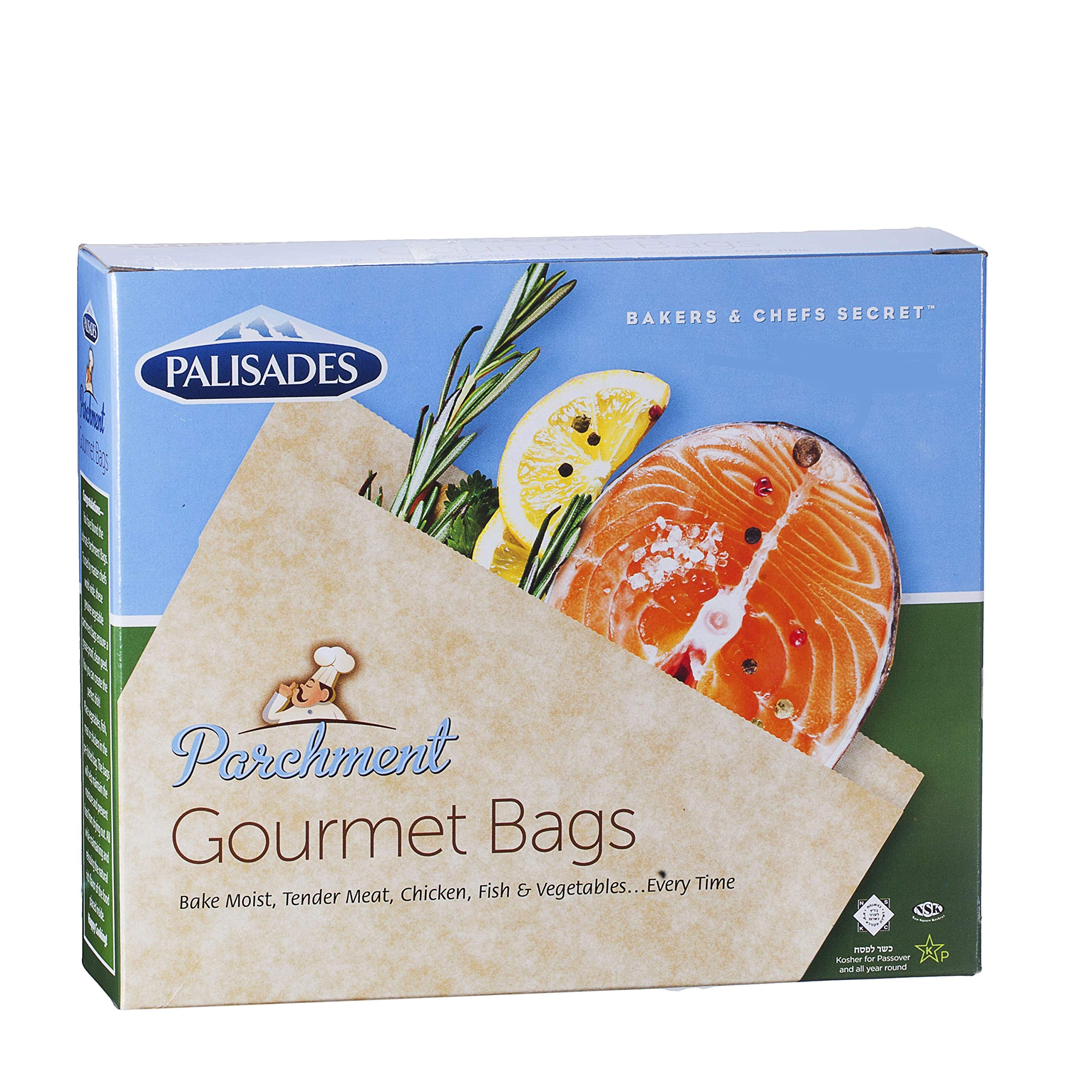 Best Quality Parchment Bags for cooking/Parchment Gourmet Cooking Bag, 12 Bags Per Pack by Palisades