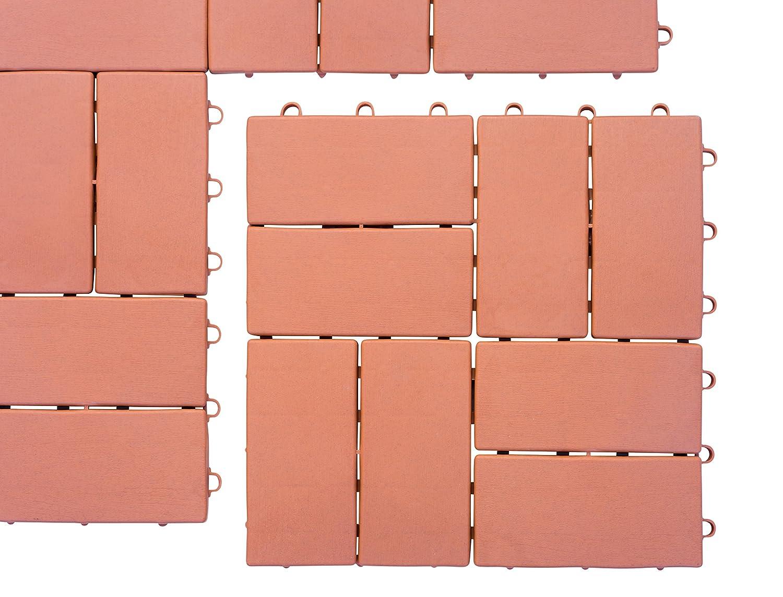 f/áciles de montar Paneles de jard/ín de 30 x 30 cm de UPP/® Marr/ón resistentes a la intemperie y antideslizantes adecuados para todas las superficies