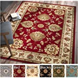 Sultan Sarouk Red Persian Floral Oriental Formal Traditional 3x12 27 X 12