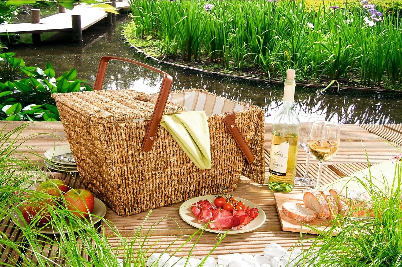 *kleiner Picknickkorb für 2 Personen, ohne Inhalt*