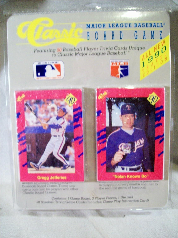 CLASSIC 1990 MLB Baseball Trivia Board Game 50 Cards at