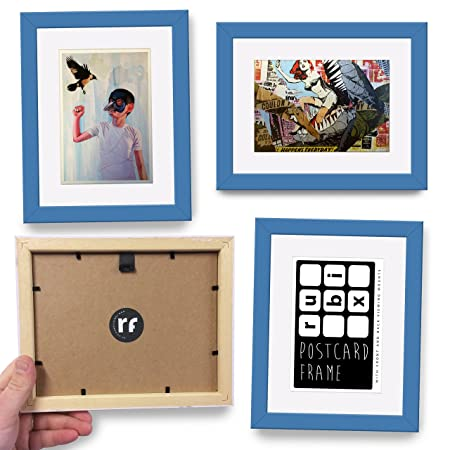 Postcard Frame with \'Conservation Backing\' Board - LIGHT BLUE ...