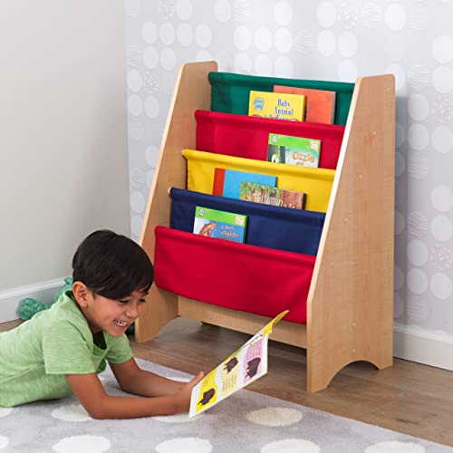 KidKraft Hängefächerregal | Kinder Bücherregale für Kita und Kindergarten